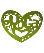 Yoga Heart Wall Art, Green