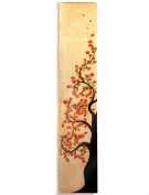 Tree of Life Wooden Growth Height Chart - Flower Blossom