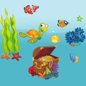 Ocean - Giant Wall Sticker Decals (Kit 210.1cm x 100.1cm ) for Children, Baby, Nursery