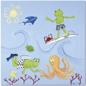 Doodlefish Gallery-Wrapped 50.8cm x50.8cm Wall Art, Scuba Frog