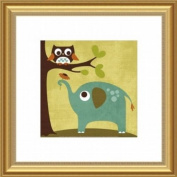 Barewalls Wall Decor, Owl and Elephant