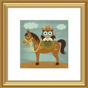Barewalls Wall Decor, Cowboy Owl on Horse