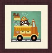 Barewalls Wall Decor by Nancy Lee, Owl in Firetruck and Squirrel