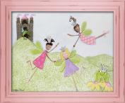 Doodlefish Framed 61cm x50.8cm Wall Art, Princess Picnic