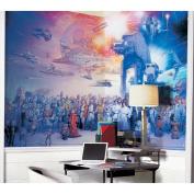 Roommates Decor Star Wars Saga Chair Rail Prepasted Mural 1.83m x 3.2m - Ultra-strippable