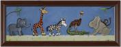 Doodlefish Framed 101.6cm x40.6cm Wall Art, Safari Parade