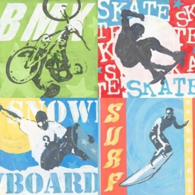 Greenbox Art + Culture Greenbox Art + Culture Extreme Sports Stretched Canvas Wall Art by Roger Groth, 99.1cm by 99.1cm