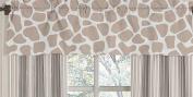 Giraffe Neutral Window Valance by Sweet Jojo Designs