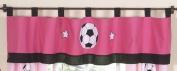 Girls Soccer Window Valance by Sweet Jojo Designs
