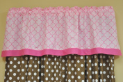 Bacati Butterflies / Lady Bug Pink/chocolate Valance