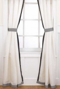 Elsa Drapes - 2 Panels w/ Tiebacks - 213.4cm x 106.7cm