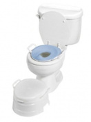 PRIMO 4-IN-1 SOFT SEAT TOILET TRAINER & STEP STOOL PRI-535 535W - WHITE W/ BLUE SEAT