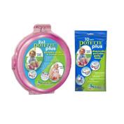 Kalencom 2-in-1 Potette Plus Pink Traval Potty w/ 10 Potty Liner Re-fills