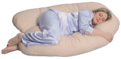 Leachco Back 'N Belly Chic Pillow with Easy On- Off Zippered Cover - Beige Swirls