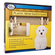 Plastic Mesh Wood Frame Gate
