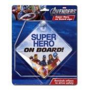 "Marvel Avengers ""Super Hero on Board!"" (Baby on Board) Car Window Sign"