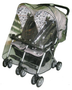 Sasha's Kiddie Products Combi Twin Side by Side Stroller Rain and Wind