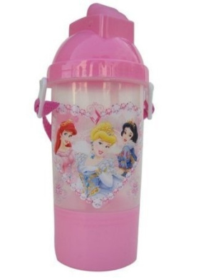Disney Princess Water Bottle- Rock N Sip N Snack