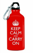 Wild and Wolf AKC001 Keep Calm and Carry On Water Bottle