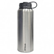 Lifeline 7502 Silver Stainless Steel Wide Mouth Water Bottle - 1180ml Capacity