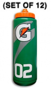 Set of 12 950ml Gatorade 'G' Squeeze Bottles