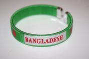 Bangladesh Green Country Flag Flexible Adult C Bracelet Wristband... 6.4cm in Diameter X .12.7cm Wide ... New