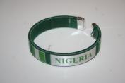 Nigeria Green Country Flag Flexible Adult C Bracelet Wristband ... 6.4cm in Diameter X 1.3cm Wide ... New