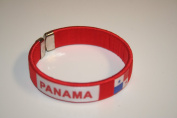 Panama Red Country Flag Flexible Adult C Bracelet Wristband ... 6.4cm in Diameter X 1.3cm Wide ... New
