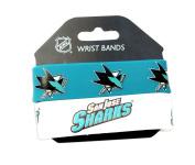 NHL San Jose Sharks Silicone Rubber Bracelet Set, 2-Pack