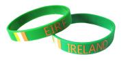 10 x Ireland Eire Silicone Wristbands