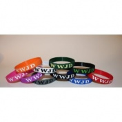 "2 FREE ONE LIFE ONE CHANCE BAND w/ purchase! 10PK ONE OF EACH colour Silicon Wristband/ Bracelet ""WWJD"" (WWJD on front & back) **ORIGINAL, DESIGNED BY TIFEPIPHANY**"