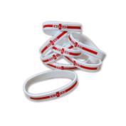 50 x England - Silicone Wristbands