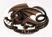 Powell Peralta Skateboard Sticker - Bones Brigade Brown Dragon Official Reissue