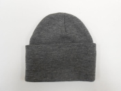 LONG BEANIE///MEDIUM grey///SKULL CAP...KNIT SKI HAT///WARM FOR THE WINTER!!!