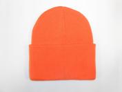 LONG BEANIE///ORANGE///SKULL CAP...KNIT SKI HAT///WARM FOR THE WINTER!!!