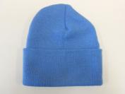 LONG BEANIE///SKY BLUE///SKULL CAP...KNIT SKI HAT///WARM FOR THE WINTER!!!