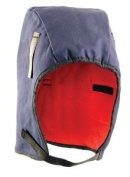 Winter Head Liner, Fleece Lining, Mid Length, Two Layers, Navy Blue, One Size