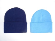 2 PACK KNIT BEANIES///NAVY BLUE & SKY BLUE///GREAT PRICE!!!