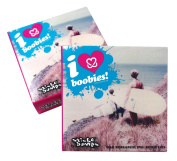 Sticky Bumps I Love Boobies Warm/Tropical Surf Wax (Pack of 3), White