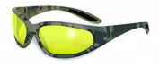 Global Vision Eyewear Digital Camo Safety Glasses, Yellow Tint Lens