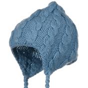 Cable Knit Peruvian Ski Beanie - Light Blue W19S10A