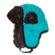 City Hunter W200n Original Solid Trapper Hat - Turquoise