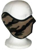 Polar Fleece Half Cover Camo Face Ski Mask Camouflage
