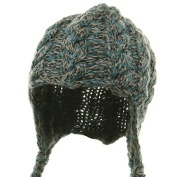 Wool Blend Youth Cable Helmet Hat - Blue W20S18B
