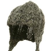Wool Blend Youth Cable Helmet Hat - Khaki W20S18B