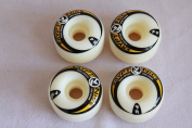 New KRYPTONICS 4 PIECES SKATEBOARD WHEELS SIZE 54 MM 97A - 4 PACK COMBO - colour BLACK
