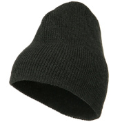 Rib Beanie with Bottom Band - Charcoal W03S58D