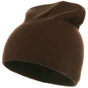 Superior Cotton Knit Cap-Brown W16S11E
