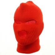 Tri Hole Ski Mask-Orange W11S14D