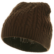 Twister Skully Beanie-Brown W16S19D